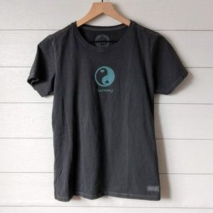 Life is Good Yin Yang Harmony Tee Shirt Small